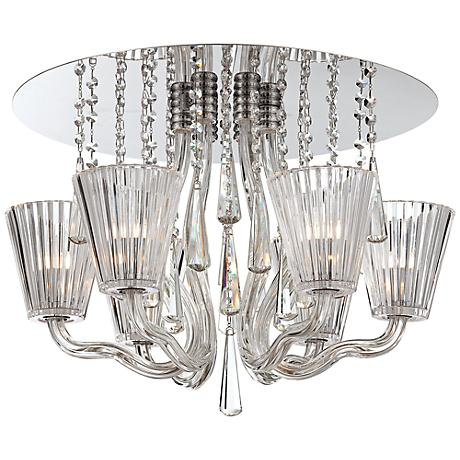 "Corato Collection 21 1/4"" Wide Clear Crystal Ceiling Light"