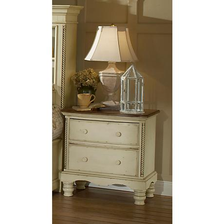 Hillsdale Wilshire Antique White 2-Drawer Nightstand
