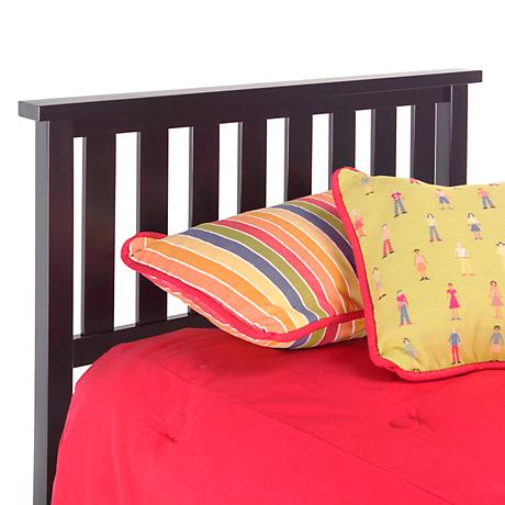 Belmont Black Full/Queen Slatted Headboard