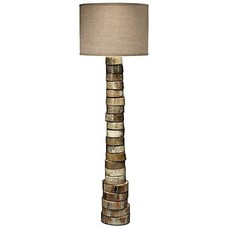 Jamie Young Linen Stacked Animal Horn Floor Lamp