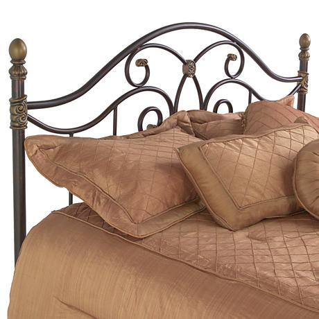 Dynasty Autumn Brown Arched Headboards