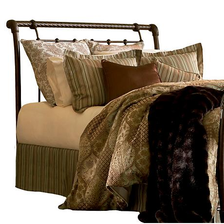 Legion Ancient Gold Metal Sleigh Headboards