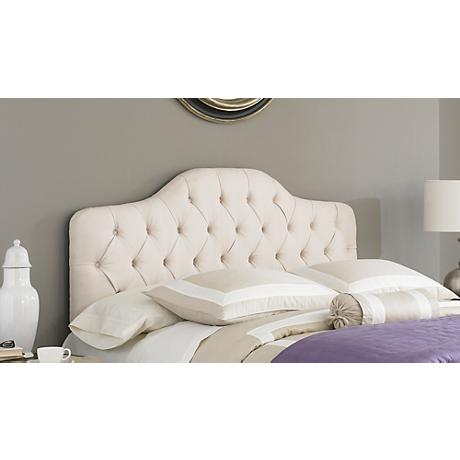 Martinique Tufted Ivory Arched Headboards
