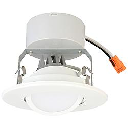 "Lithonia 4"" Matte White LED Gimbal Module"