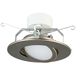 "5"" Lithonia 10.8 Watt Gimbal LED Retrofit Trim in Bronze"