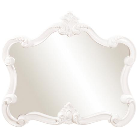 "Howard Elliott Veruca 32"" x28"" White Wall Mirror"