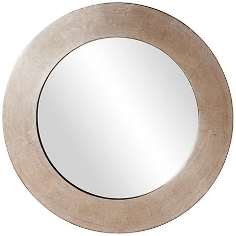"Howard Elliott Sonic Silver 20"" Round Wall Mirror"