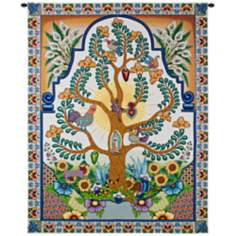 "Arboles de la Vida 68"" High Wall Tapestry"