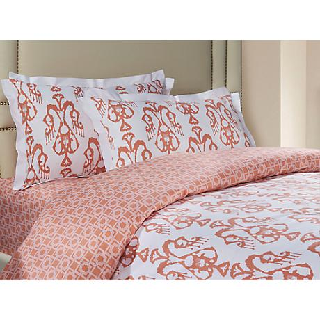 Bali Coral 3-Piece Cotton Sateen Duvet Set
