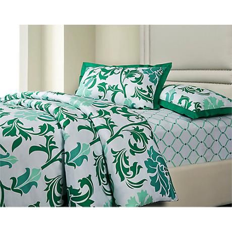 Trellis 3-Piece Cotton Sateen Duvet Set