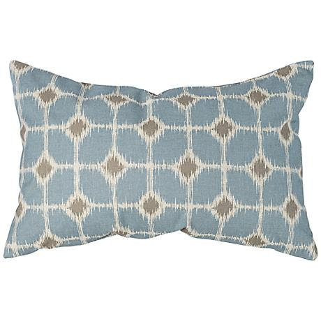 "Design Studio 13"" x 20"" Blue Linen Down Pillow"