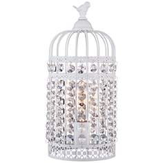 Polly White Birdcage White Table Lamp