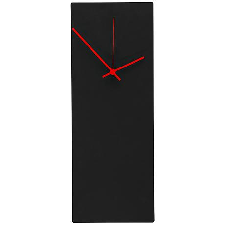"Blackout 16"" High Red Clock Contemporary Metal Wall Art"