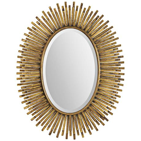 "Sparta 30 3/4"" x 38 1/2"" Oval Wall Mirror"