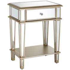 Joslyn Gold Mirrored Accent Table