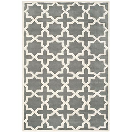 Safavieh Chatham CHT732D Dark Grey/Ivory Wool Rug