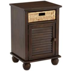 Nantucket Basket Drawer Walnut Nightstand