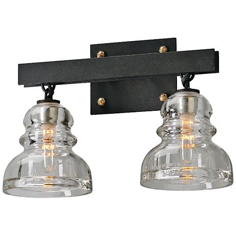 "Menlo Park 15 3/4"" Wide Deep Bronze Bath Light"