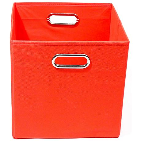 Bold Solid Red Folding Storage Bin