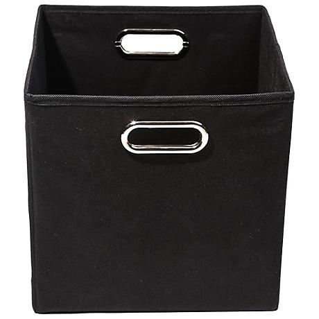 Smarty Pants Solid Black Folding Storage Bin