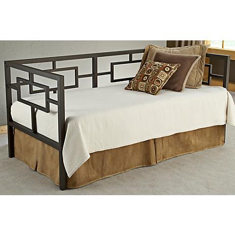 Hillsdale Chloe Bronze Metal Trundle Daybed