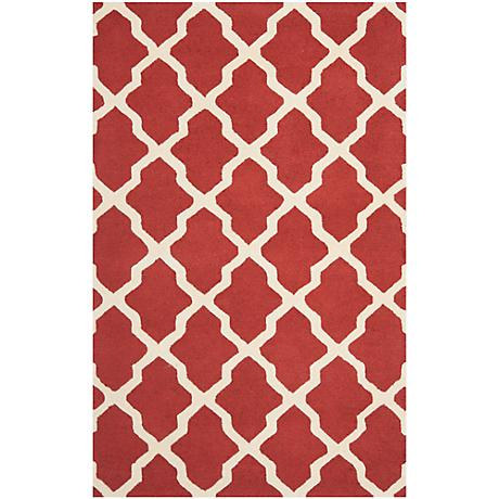 Safavieh Cambridge CAM121L Rust/Ivory Wool Rug