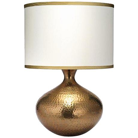 Jamie Young Taza Antique Brass Table Lamp