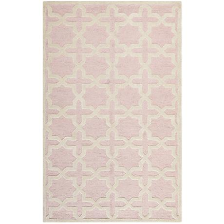 Safavieh Cambridge CAM125M Light Pink/Ivory Wool Rug
