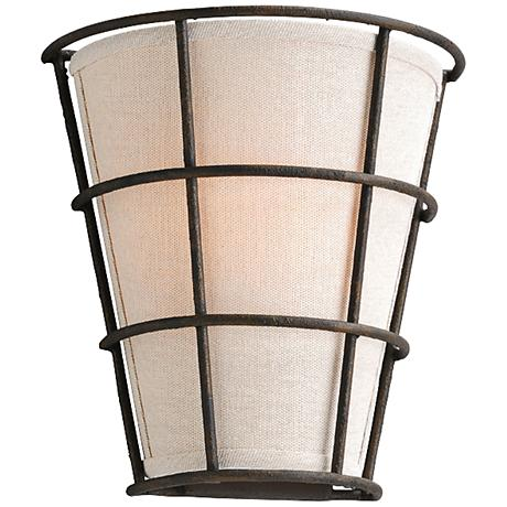 "Habitat 9 1/2"" Wide Liberty Rust Wall Sconce"