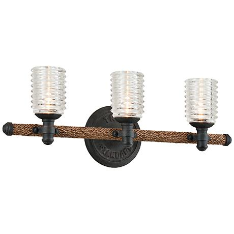 "Embarcadero 24"" Wide Shipyard Bronze Bath Fixture"