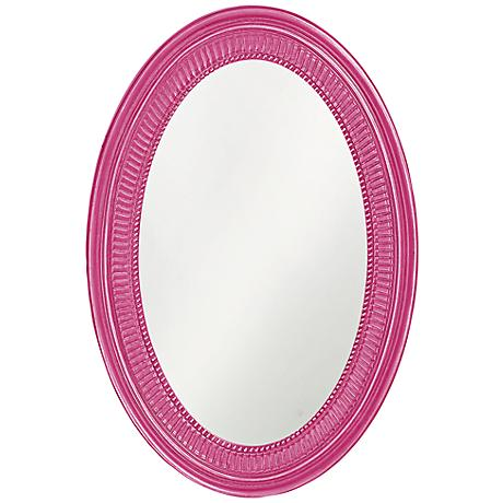 "Howard Elliott Ethan 21"" x31"" Hot Pink Wall Mirror"