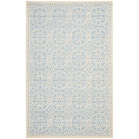 Safavieh Cambridge CAM123A Light Blue/Ivory Wool Rug