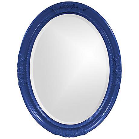 "Howard Elliott Queen Ann 25"" x 33"" Royal Blue Wall Mirror"