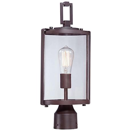 "Minka Ladera 18"" High Alder Bronze Outdoor Post Light"