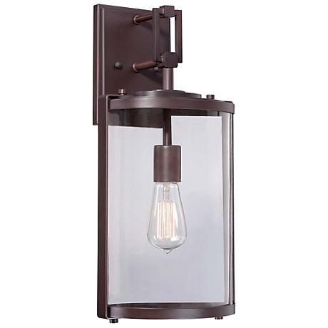 "Minka Ladera 18 1/2"" High Alder Bronze Outdoor Wall Light"