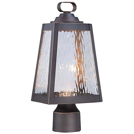 "Minka Talera 15"" High LED Bronze Outdoor Post Light"