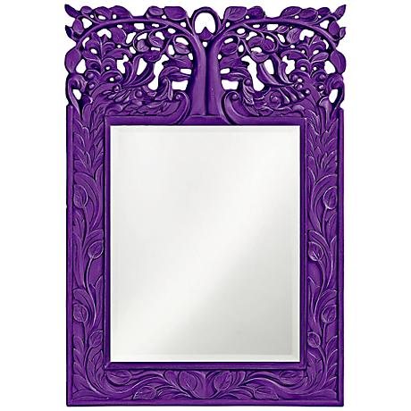 "Howard Elliott Oakvale 17"" x 25"" Royal Purple Wall Mirror"