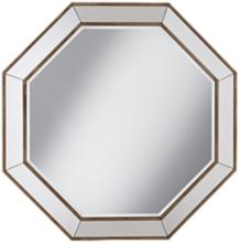 "Hornbeck Gold Octagon 34"" x 34"" Beveled Wall Mirror"