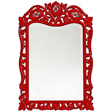 "Howard Elliott St. Agustine 20"" x 29"" Red Wall Mirror"