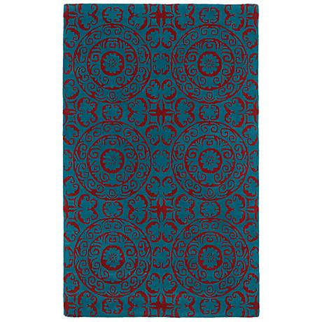 Kaleen Evolution EVL03-94 Peacock Wool Area Rug