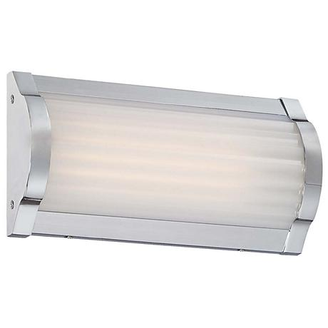 "George Kovacs Verin 9"" Wide LED Chrome Wall Sconce"