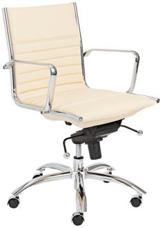 Lugano Butter Leatherette Low Back Office Chair (5K195) 5K195