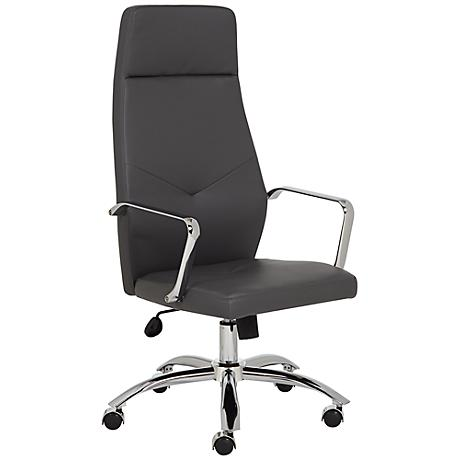 Milton Gray Leatherette High Back Office Chair