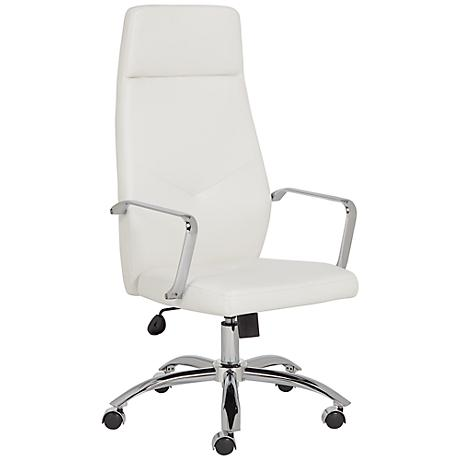 Milton White Leatherette High Back Office Chair