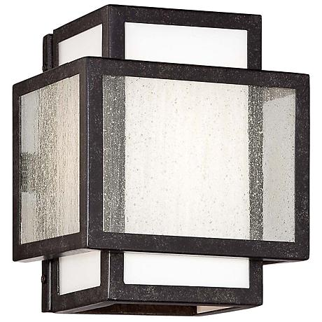 "Minka Camden Square 8"" High Charcoal Wall Sconce"