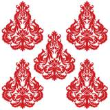 Brocade Red and White Wall Decal