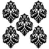 Diamond Scroll White and Black Wall Decal