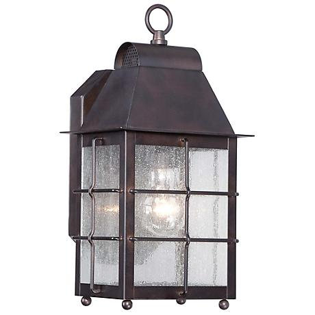 "Minka Willow Pointe 13 3/4"" High Bronze Outdoor Wall Light"