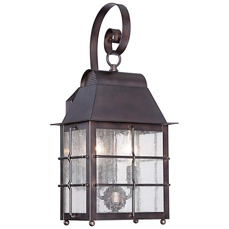 "Minka Willow Pointe 19"" High Bronze Outdoor Wall Light"