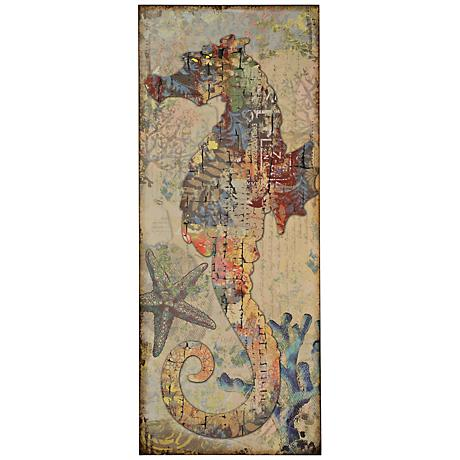 "Nautical Sea Horse 39 1/2"" High Wall Art"